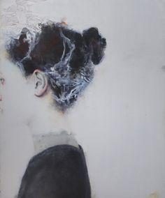 antoinecordet:  Antoine Cordet.SWIMMING LESSON IN LAVA; Acrylic on canvas.