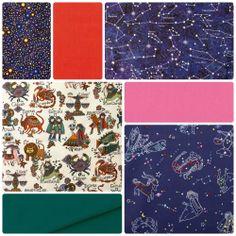 Fabric Friday - It's in the Stars Zodiac and Constellation fabric from Alexander Henry and Northcott. www.voodoorabbit.com.au