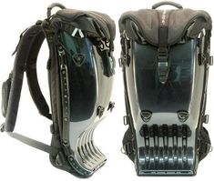 Any Company that makes high fashion sci fi Backpacks and hats and complex clothing? Biker Accessories, Fashion Accessories, Cheap Camping Gear, Motorcycle Backpacks, Army Gears, Steampunk, Back Bag, Waterproof Backpack, Cool Gear