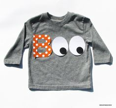 Halloween B O O...Fabric Iron On Appliques...Choose From 2 Designs on Etsy, $3.95