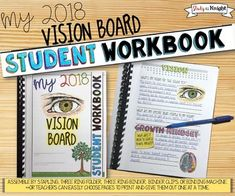 Vision Board Student Workbook, Goal Setting, Print and Distance Learning Goal Setting Activities, New Years Activities, Back To School Activities, Educational Activities, Vision Board Template, Leadership Classes, Teaching 5th Grade, Creating A Vision Board, High School Students