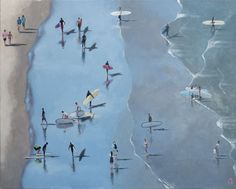 Paintings of surfers by Alex Marmarellis Surfers, Canvas Size, Africa, Paintings, Gallery, Artist, Artwork, Animals, Surf Girls