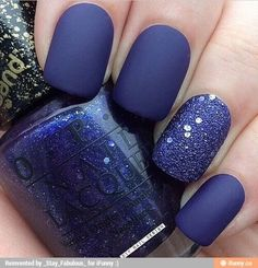 80 Awesome Glitter Nail Art Designs You'll Love – The Best Nail Designs – Nail Polish Colors & Trends Blue Nail Polish, Glitter Nail Polish, Gorgeous Nails, Pretty Nails, Blue Glitter Nails, Silver Glitter, Lilac Nails, Glitter Bomb, Glitter Hair