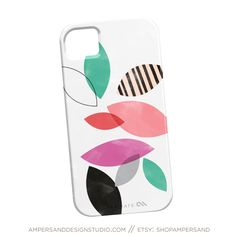 Pastel Leaves iPhone Case