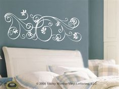 Vine Swashes : Decals for Walls : Vinyl Wall Quotes : StickyWords.net