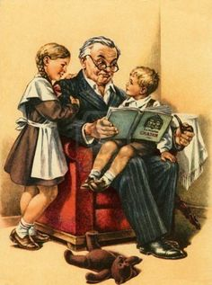 Grandparents  (and if grandma or grandpa can't be there to read to them... try an audiobook)