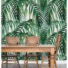 Veľkoformátová tapeta Palm Leaves Palm, Leaves, Profile