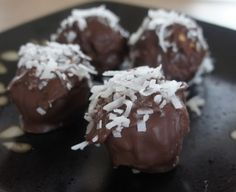 Chocolate Covered Coconut Peanut Butter Balls