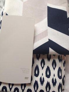 Nate Berkus Fabric // Behr Burnished Clay