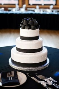 Modern, chic, and bold -- this classic cake boasts sophistication!! Courtesy of McArthur's Bakery located in St. Louis, MO.