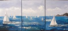 REGATTA - triptych painting