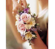 flower wristlets for weddings   Flower Wristlets!