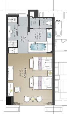 A standard 30 rooms of the hotel ideas (designer ideas to expand, the proposed collection) Plan Hotel, Hotel Floor Plan, House Floor Plans, Design Hotel, Lobby Design, Detail Architecture, Rm 1, Apartment Floor Plans, Toilet Design