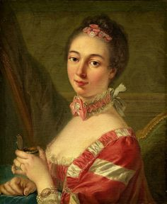Portrait of a Lady 18th Century Fashion, Putting On Makeup, Jean Baptiste, Theatre Costumes, National Gallery Of Art, Historical Clothing, Female Clothing, Woman Painting, Vintage Wall Art