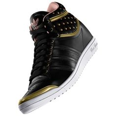 Tênis Adidas Women s Top Ten Hi Sleek Up Shoes Black Gold D65223  Tênis   Adidas f6679d1317fc5