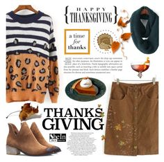 """""""Happy Thanksgiving!"""" by helenevlacho ❤ liked on Polyvore featuring contestentry, thanksgiving and shein"""