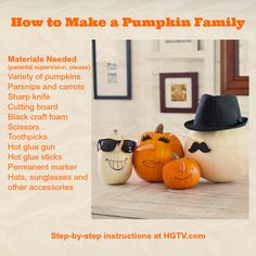 How to make your own pumpkin family