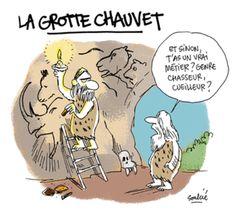 """A la grotte Chauvent """"Et sinon, t'as un vrai métier ? Genre chasseur, cuilleiur?"""""""