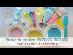 How to make ROYAL ICING - PLUS how to store your icing for future use - YouTube