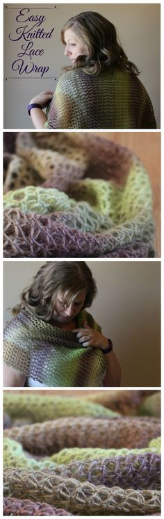 Easy Knitted Lace Wrap - Free Knitting Pattern