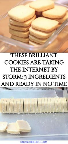 These brilliant cookies are taking the internet by storm: 3 ingredients and ready in no time - Dessert Recipes Easy Cookie Recipes, Baking Recipes, Sweet Recipes, Yummy Recipes, Recipies, Cookies Cupcake, Yummy Cookies, Brownie Cookies, Shortbread Cookies