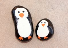 Ideas for Geology Pin #6 - Penguin Pet Rocks