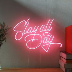 Slay All Day Real Glass Neon Sign For Bedroom Garage Bar Man Cave Room Home Decor Personalised Handmade Artwork Visual Art Dimmable Wall Lighting Includes Dimmer Tattoo Wallpaper, Neon Wallpaper, Neon Signs Quotes, Led Neon Signs, Kitsch, Neon Sign Bedroom, Lash Quotes, Neon Licht, Man Cave Room