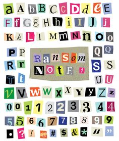 Different kinds of cut and torn out font from magazines and papers vector ransom note 1 cut paper letters numbers symbols photo about spiritdancerdesigns Choice Image