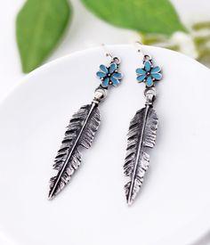 Long Silver Alloy Dangle Earrings $5.98