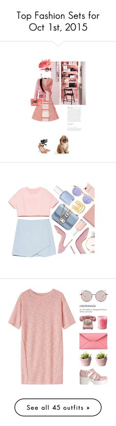 """""""Top Fashion Sets for Oct 1st, 2015"""" by polyvore ❤ liked on Polyvore featuring mode, Louis Vuitton, Burberry, Shrimps, Jimmy Choo, Chanel, Le Specs, Valentino, Essie et Stella & Dot"""