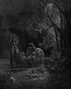 Illustrations to Orlando Furioso / Gustave Doré Gustave Dore, Fantasy Landscape, Fantasy Art, Dom Quixote, Roi Arthur, Art Of Seduction, Spiritus, Scratchboard, Great Paintings