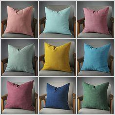 Blush Pillow, Aqua Pillow, Magenta Pillow, Soft Green Pillow, Mustard Pillow, Teal Pillow, Plum Pillow, Blue Pillow, Dark Green Pillow