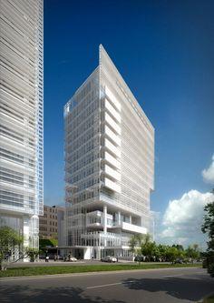El Hotel W Santa Fe, México, está ubicado en un sector periférico del D.F. y hace parte de un conjunto de tres torres de 15 pisos, dos de las cuales son de oficinas.