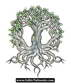Small Celtic Treee Tattoo Design