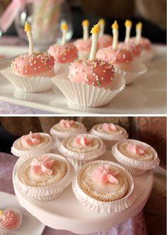 mini (marshmallow!) birthday cakes