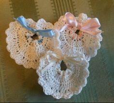 Bomboniere neonato in cotone lavorato a mano all'uncinetto, by Penso a me, 3,00 € su misshobby.com