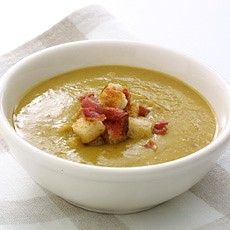 The London Particular   .This soup, made with the bacon stock from Boiled Smoked Bacon, is so named because of the thick, dense 'peasouper' London fogs that were so prevalent during the first half of the last century.