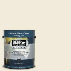 BEHR Premium Plus Ultra 1-Gal. #UL160-11 Coastal Beige Interior Satin Enamel Paint-775001 at The Home Depot