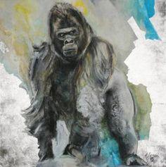 "Saatchi Art Artist Arno Bruse; Painting, ""Gorilla"" #http://www.saatchiart.com/smart.art"