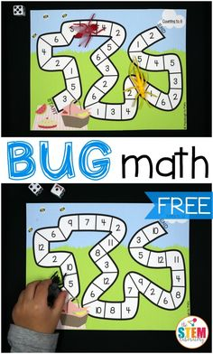 Topic 12 math games for fluency Free bug math games for kids! What a fun bug activity for preschool or kindergarten. Great activities for practicing number recognition and addition. Free Math Games, Preschool Math Games, Insect Activities, Math Games For Kids, Kindergarten Activities, Fun Math, Insect Games, Kids Math, Numbers Preschool
