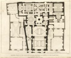 Floor plan of the House and Museum of Sir John Soane, London