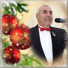 Andy Martin Christmas Image in Red and Gold  Discover the Magical Voice of Andy Martin Versatile singer from Chester UK. Join his International Fan Club https://www.facebook.com/groups/andymartinfanclub