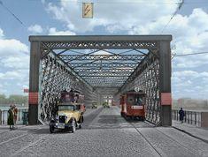 1934 Most Kierbedzia fot. Warsaw, Poland, Entrance, Louvre, Lost, Van, Architecture, City, Building