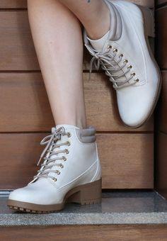 coturno - off white - boots - Ref. 15-7601