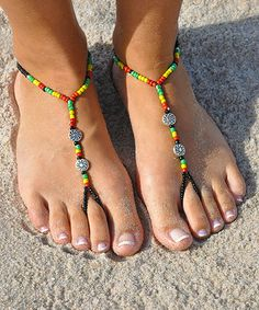 Rasta Barefoot Sandal @bauerlicious these are awesome!!