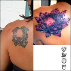 lotus cover up tattoo - Google Search
