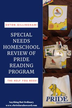 Special Needs Homeschool Review of PRIDE Reading Program - Christine A Howard Gillingham, Struggling Readers, First Language, Dry Erase Markers, Home Schooling, Special Needs, Training Programs, Special Education, Phonics