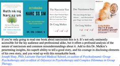 Rethinking Narcissism: The Bad--And Surprising Good--About Feeling Special Relationship Science, Harvard Medical School, Feeling Special, Narcissist, Danish, Rave, German, Feelings, Raves