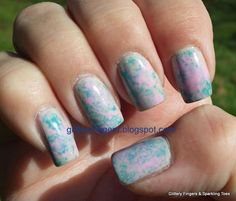 Glittery Fingers & Sparkling Toes: Spring Plastic Wrap