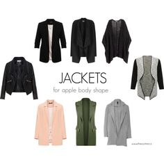 JACKETS FOR APPLE BODY SHAPE by kristina-mihalkova on Polyvore featuring H&M, Manon Baptiste, Zizzi, M&Co, Miss Selfridge, WearAll and Phase Eight